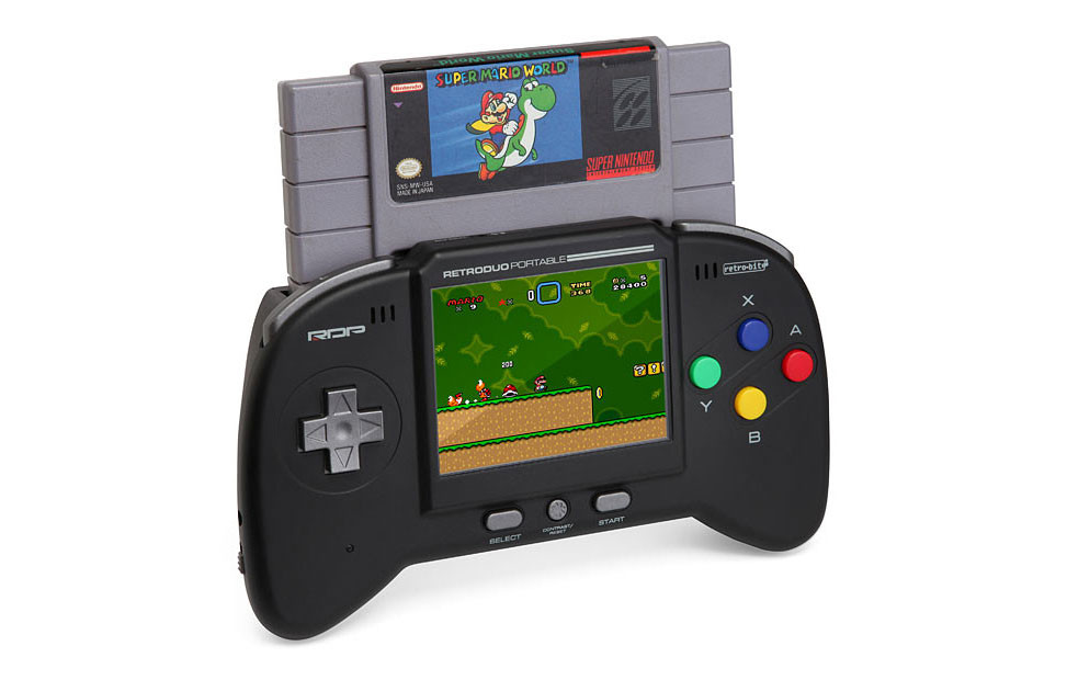 Portable NES/SNES handheld gaming system
